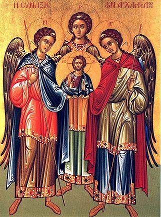 Znalezione obrazy dla zapytania saint Michael and saint Gabriel and saint Rafael