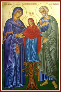 Sts. Joachim and Anne with Mary