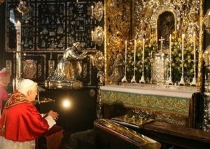 Pope Benedict XVI at Altotting