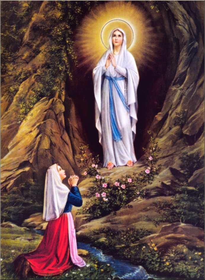 """Mondays with Mary"""" – Saint Bernadette and Our Lady of Lourdes ..."""