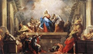 Mary is the Mother of the Church on Pentecost