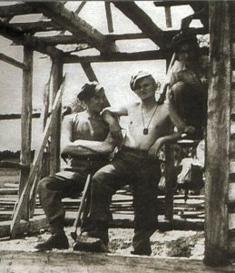 Young Karol Wojtyla (Pope St. John Paul II) wearing the brown scapular.