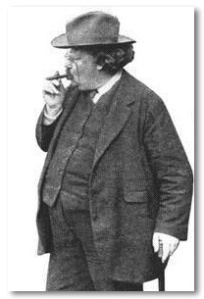 Chesterton smoking a cigar