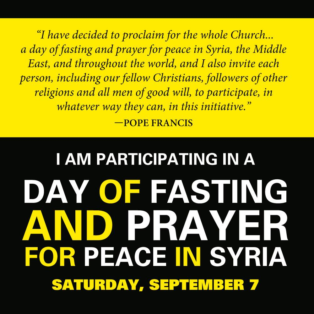 5 Steps to Fasting and Prayer For Peace in Syria on College Football Saturday