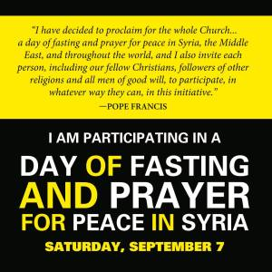 Day of Prayer and Fasting for Syria