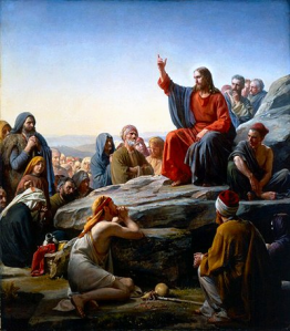 Jesus teaching the Sermon on the Mount