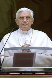Pope Benedict XVI talking