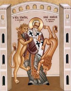 St. Ignatius of Antioch and Lions