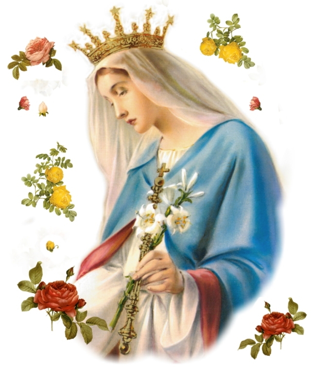 Holy Maria  flower necklace