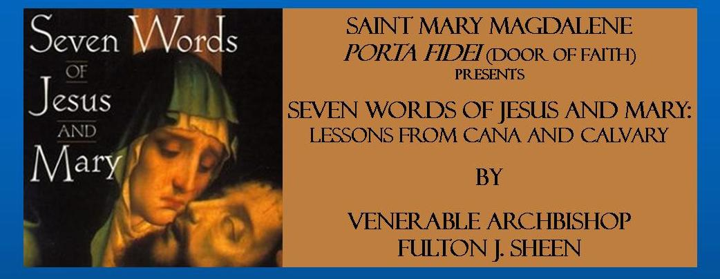seven words of jesus and mary fulton sheen pdf