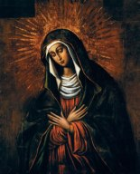 This is image is 'Our Lady of Ostra Brama' (Our Lady of Mercy). She is the patroness of the Marian Province in the United States.