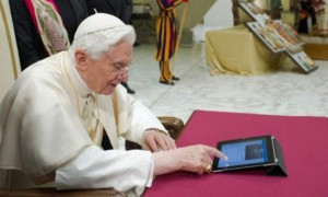 Pope Emeritus B 16 with IPad