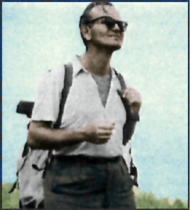 Fr. Karol Wojtyla hiking.