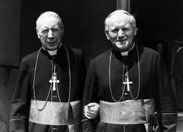 With Cardinal Wysznnski.