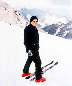 Cardinal Wojtyla on the ski slopes.