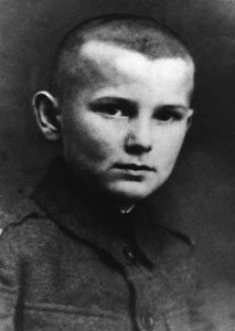 Karol Wojtyla as a young boy.