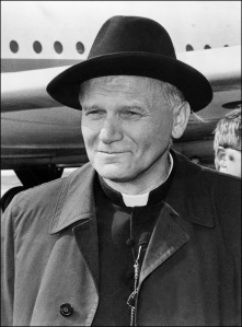 Fr. Karol Wojtyla rocking the black hat.