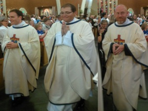 Fr. Kevin Grimditch, Fr. Scott Sperry, and Fr. Keith Kenney.