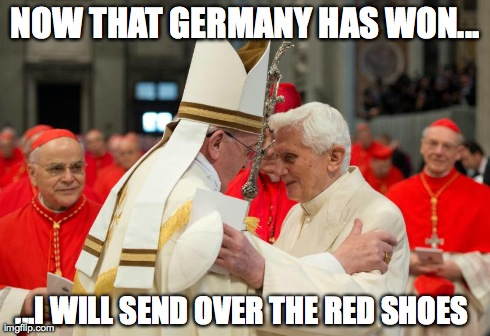 Germany won - red shoes