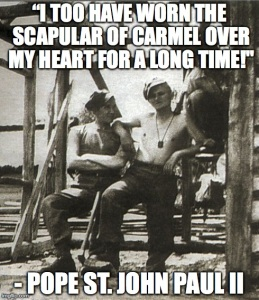 JP2 and the Brown Scapular Meme