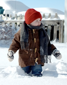 Kid in the snow