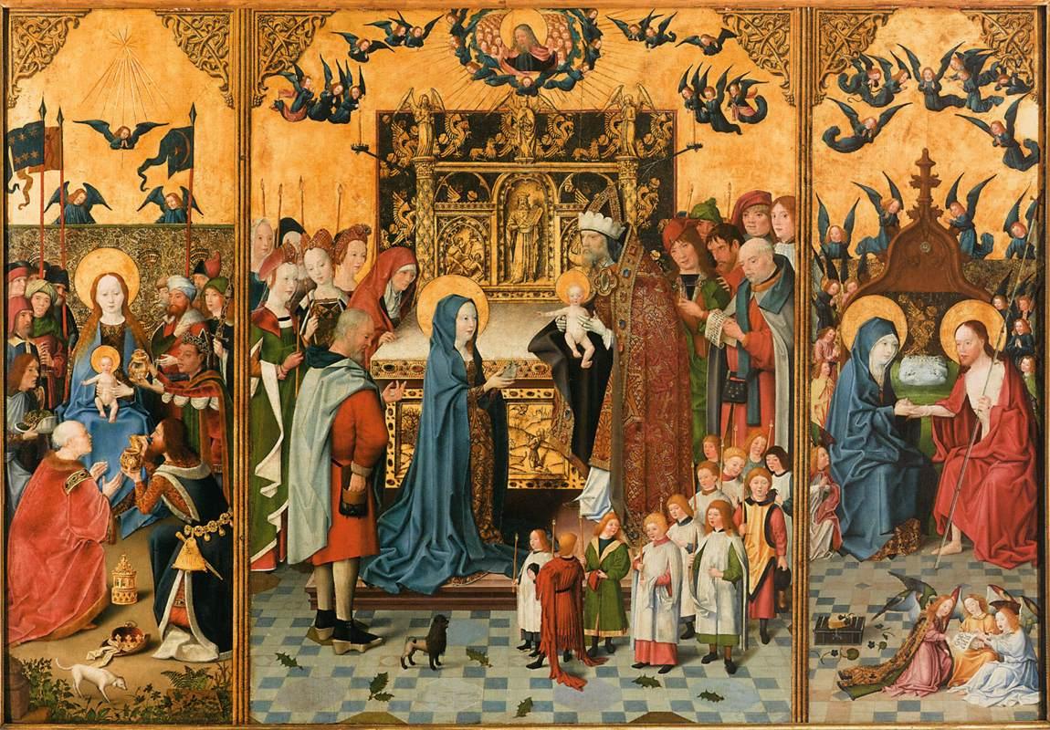Altertavle med Marias syv gleder (1400-t) av ukjente malere