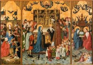 Altar Piece of the Seven Joys of Mary - 15th century - Painters Unknown.