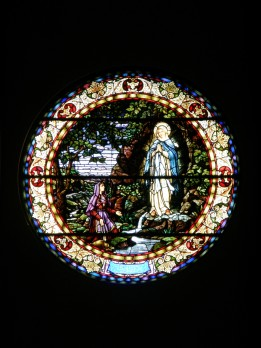 Stain Glass Window in Immaculate Conception Catholic Church, Cottonwood, AZ