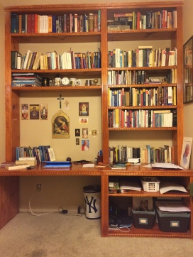 A large section of my personal library. There are other books as well.