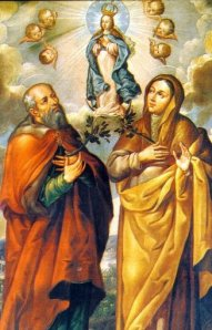 Sts. joachim and anne with Heavenly Daughter Mary