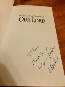 Fr. Benedict Groeschel signature