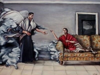 The Annunciation by Steve Bird. For more about him or to purchase his art, please visit http://www.stevebirdart.com