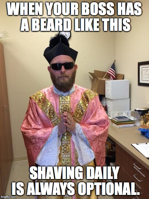 A Priest A Beard Rose Vestments And The Option To Shave Tom Perna