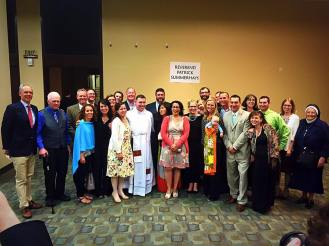 Fr. Patrick Summerhays with SII grads - June 6, 2015