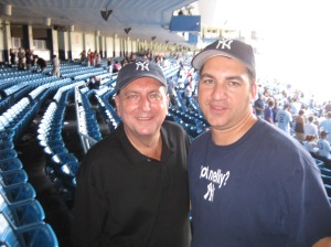 Dad and I at Yankee Stadium - August 2008