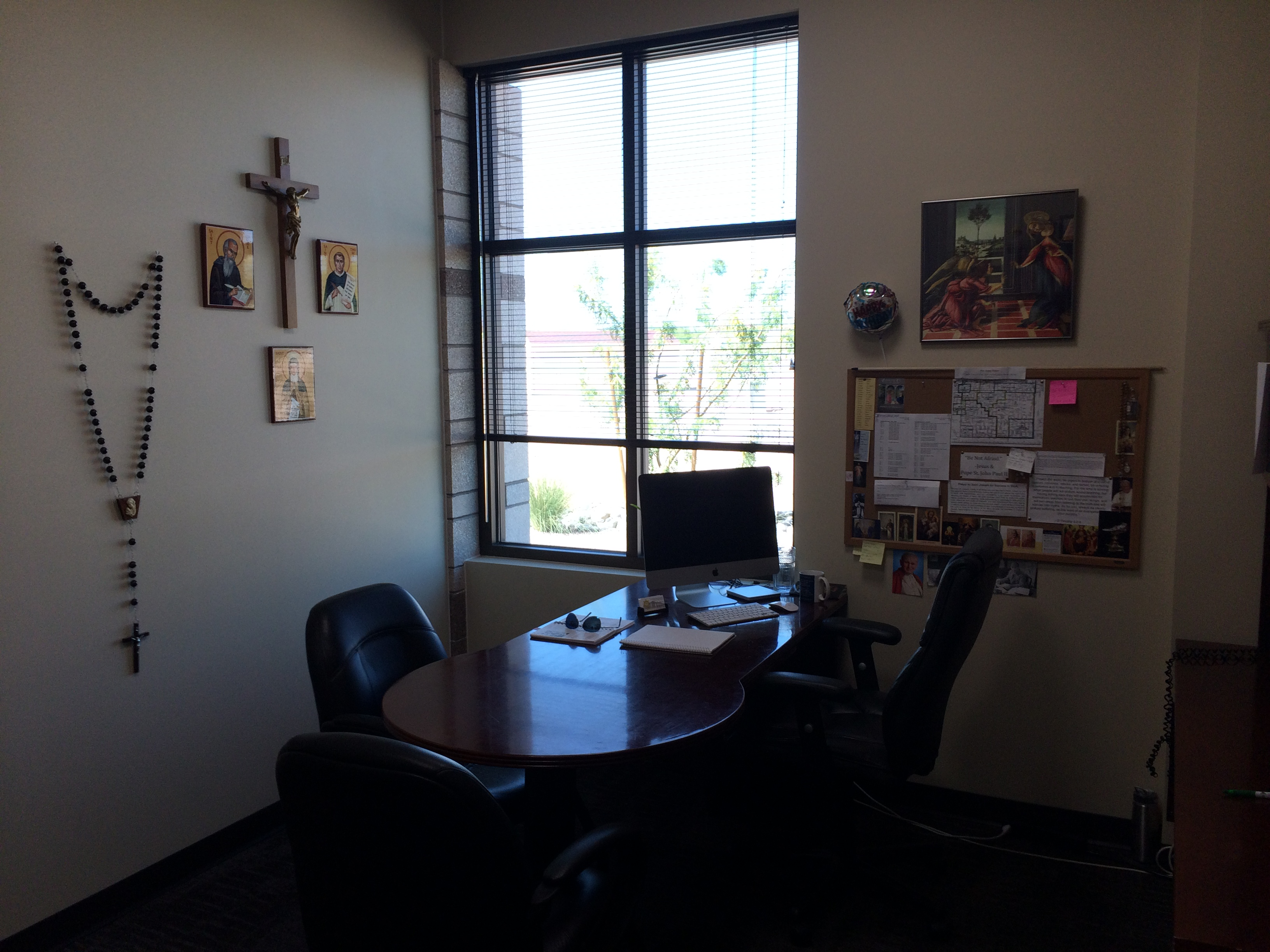 Office At Home Ideas: My Catholic Office At The Parish