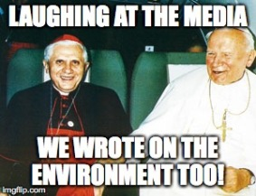 JP2 and Ratzinger laughing at media
