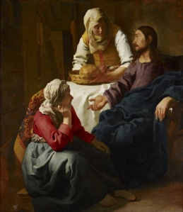 Johannes Vermeer - Christ in the House of Martha and Mary