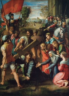 Jesus Carrying His Cross - Raphael, 1516.