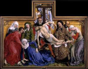 The Descent from the Cross - Rogier van der Weyden. Created 1435-1438.