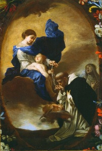 The Vision of St. Dominic - Bernardo Cavallino (1640)