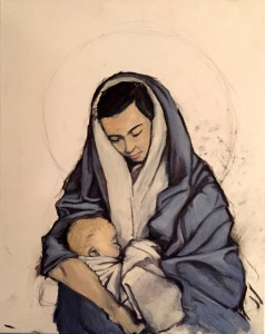 "Madonna and Child - 16""x20"" by Steve Bird. Please visit Steve's website for more of his works - http://www.stevebirdart.com"