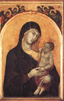 Madonna and Child with Angels - Duccio