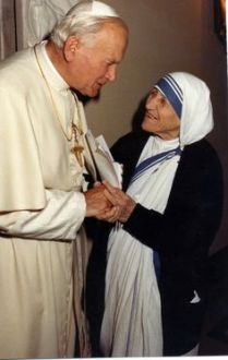 St. Teresa of Calcutta and Pope St. John Paul II