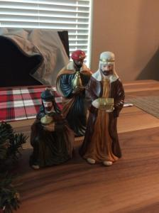 The Magi on my dining room table.