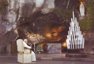 Pope St. John Paul in Lourdes, 2004
