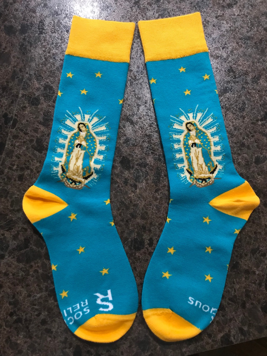 Our Lady of Guadalupe Socks on the Feast of Our Lady of Guadalupe